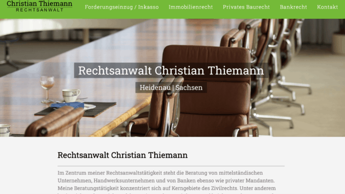 Rechtsanwalt Thiemann in Heidenau - Dresden