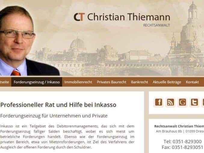 Rechtsanwalt Dresden für Inkasso Immobilienrecht und Bankrecht