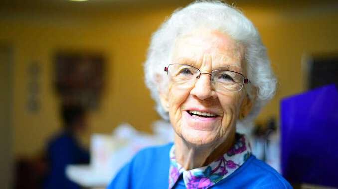 Alte Frau - Pflegedienst Dresden