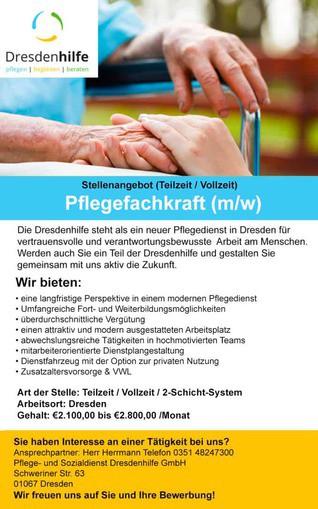 Pflegefachkraft (m/w) (Teilzeit / Vollzeit)