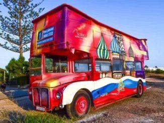 Werbemittel Bus