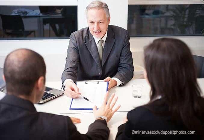 Kreditgespräch bei der Bank