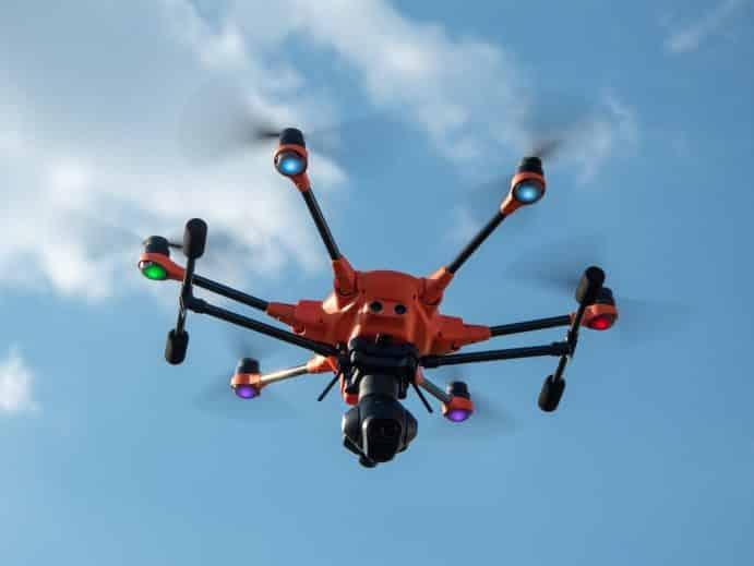 Drohne mit Wärmebildkamera