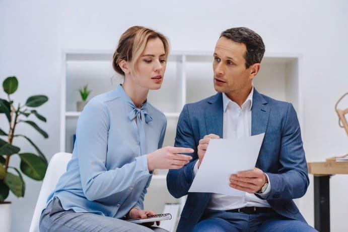 Aussprache mit dem Chef